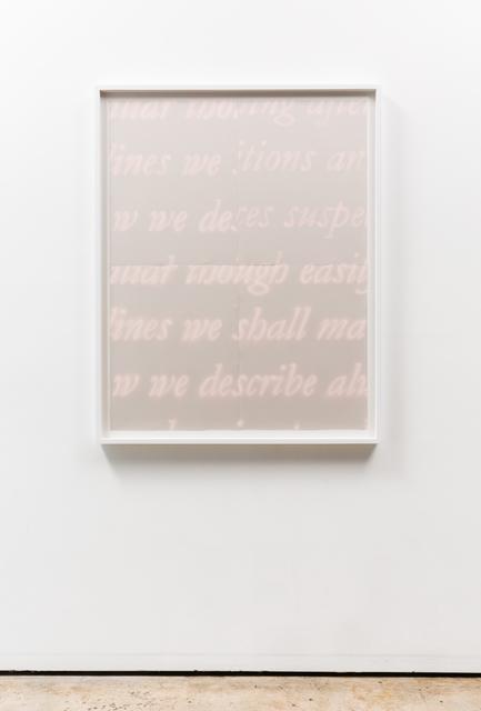 , 'To Transcribe,' 2015, Meliksetian | Briggs