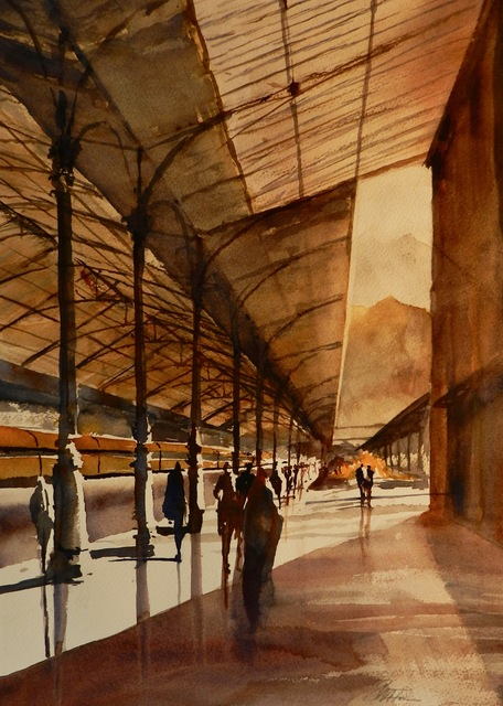 , 'Morning at the Sao Bento Station in Porto,' , Copley Society of Art