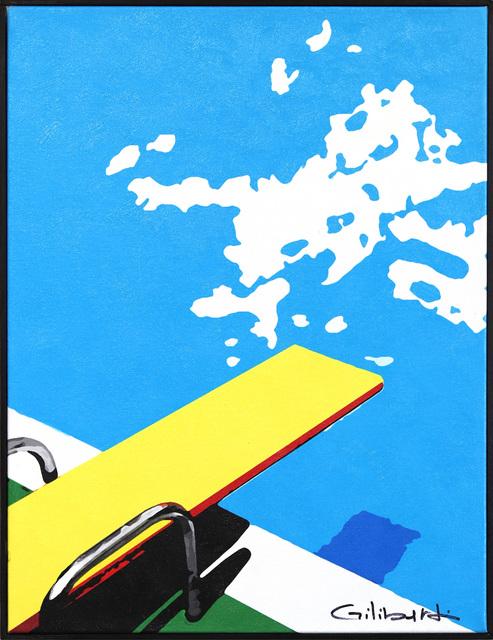 Michael Giliberti, 'Yellow Dive', 2020, Painting, Mixed Media on Canvas, Artspace Warehouse