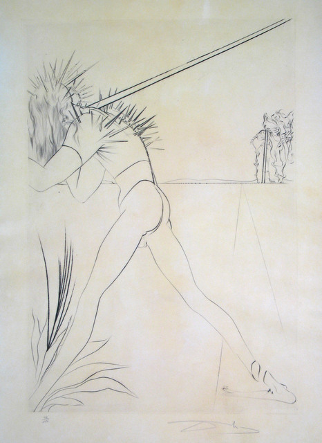 Salvador Dalí, 'There are some Soldiers', 1973, Print, Drypoint etching, Goldmark Gallery