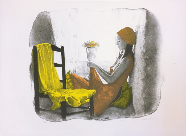 Sandu Liberman, 'GIRL AT THE WINDOW', UNKNOWN, Gallery Art