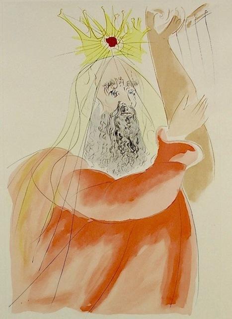 Salvador Dalí, 'King Solomon ', 1975, Print, Original Engraving with Pochoir, Dawson Cole Fine Art