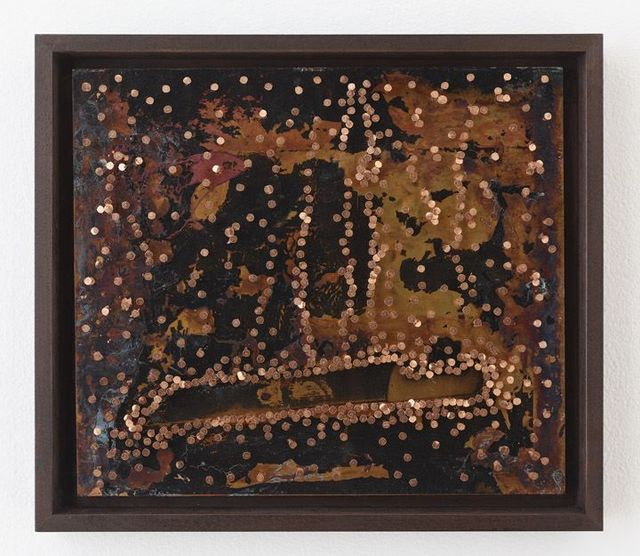 Nari Ward, '#596', 2014, Painting, Copper sheet and copper tacks on board, Lehmann Maupin