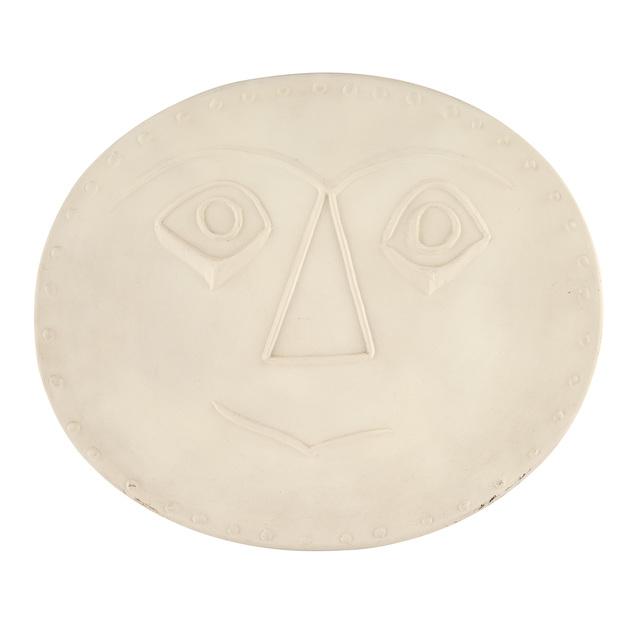 Pablo Picasso, 'VISAGE GÉOMÉTRIQUE (A.R. 356)', 1956, Design/Decorative Art, White ceramic plate, Doyle