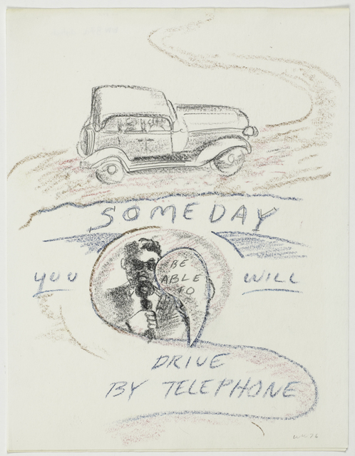, 'Someday you will be able to drive by telephone,' 1976, Magenta Plains