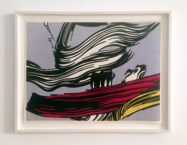Roy Lichtenstein, 'Brushstrokes', 1967, Print, Color screenprint on off-white paper, Carolina Nitsch Contemporary Art