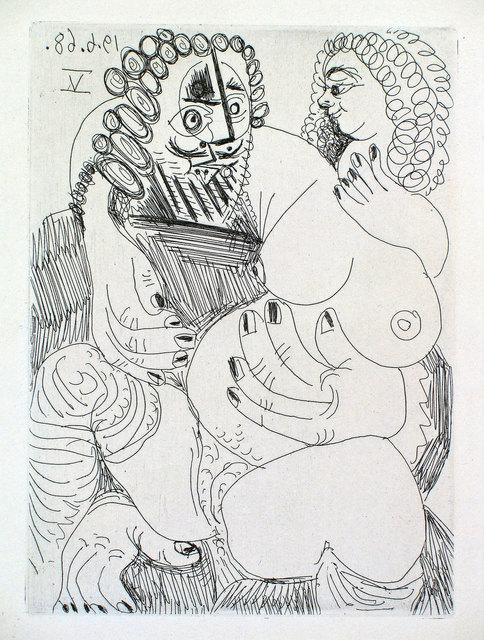 Pablo Picasso, 'Grosse Prostituée sur les Genoux d'un Barbu', 1968, Print, Etching and aquatint, Goldmark Gallery