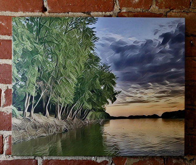 , 'New Harmony Wabash River Sunset,' 2019, Mason-Nordgauer Fine Arts Gallery