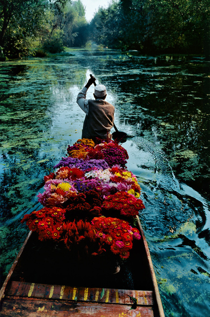 Steve McCurry, 'FLOWER SELLER, DAL LAKE, SRINAGAR, KASHMIR, 1996', 1996, Huxley-Parlour