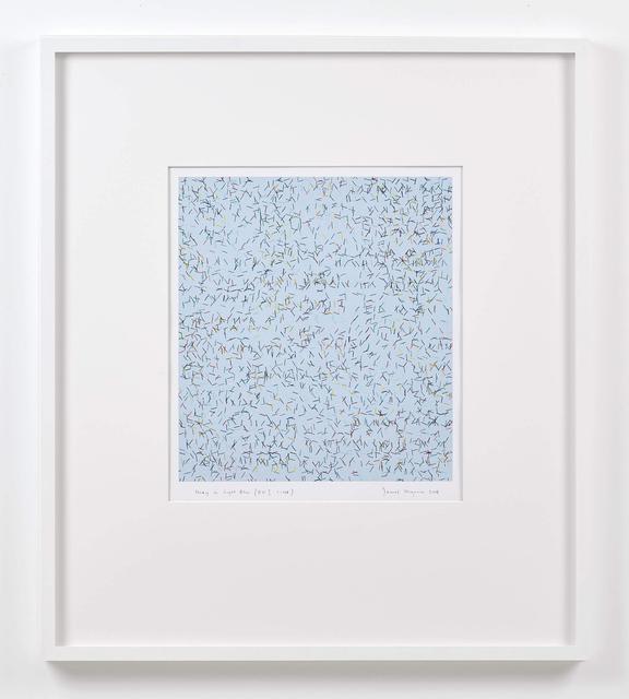 James Hugonin, 'study in light blue (ev I 1 - 108)', 2008, Edition & Galerie Hoffmann