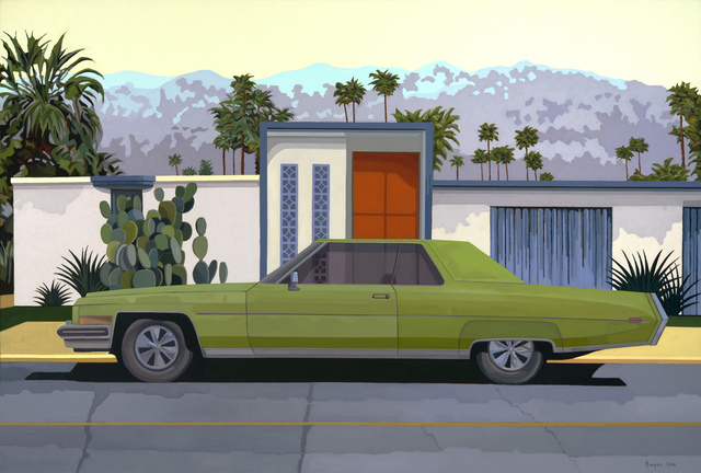 ", '""Green Car, Palm Springs"",' 2018, Bonner David Galleries"