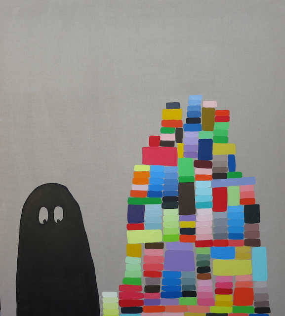 , 'You Can Build a Mountain of Happiness but the Ghosts are Always There,' 2014, ROCKELMANN  &