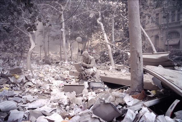 "Jeff Mermelstein, 'Statue (""Doublecheck"" by J. Seward Johnson)', 2001, ClampArt"