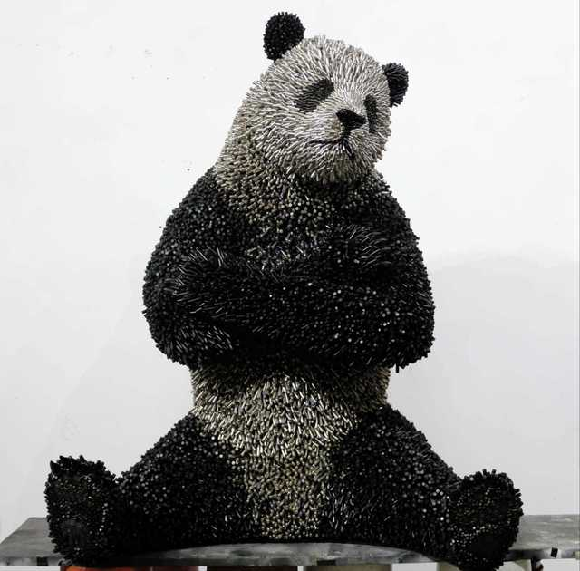 , 'Lifesize Panda,' 2018, Adelson Galleries