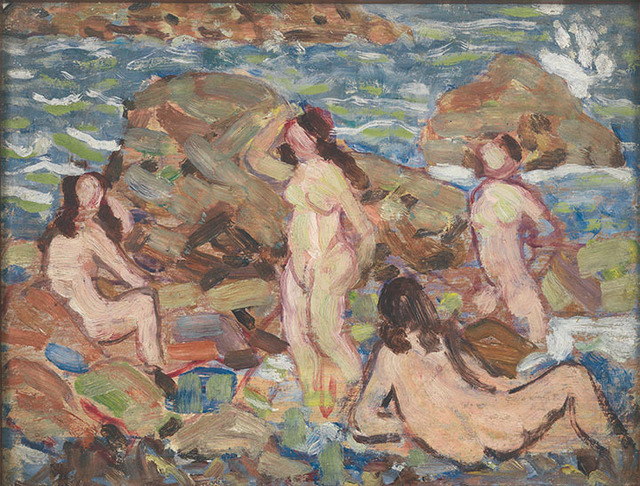 , 'Four Nudes at the Seashore,' 1910-1913, Montclair Art Museum