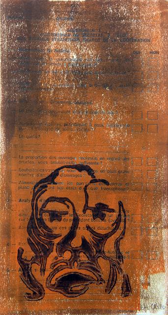 , 'Untitled (Questionnaire),' ca. 1980, TAFETA