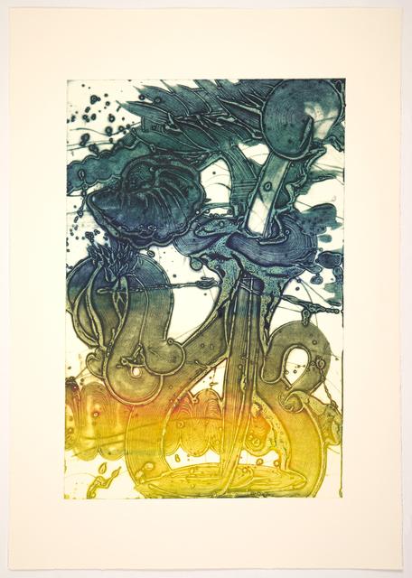 Catherine Howe, 'Bouquet (sunflower, yellow, hunter)', 2019, Print, Unique collagraph, Manneken Press