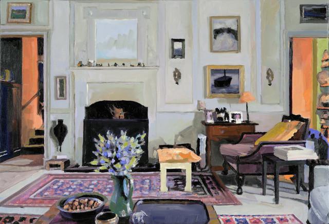 Simon Andrew, 'Fireplace, Trereife', 2020, Painting, Oil on canvas, Duran Mashaal