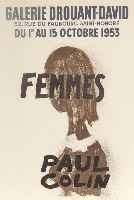 Paul Colin, 'Femmes, Galerie Drouant-David', 1953, RoGallery