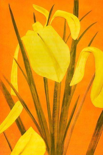 Alex Katz, 'Yellow Flags 4', 2021, Print, Screenprint, Frank Fluegel Gallery