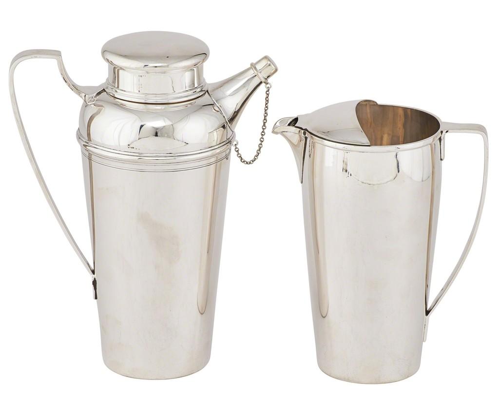 Superb Sterling Silver Barwareu0027, 1907