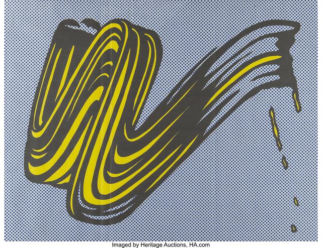 Roy Lichtenstein, 'Brushstroke (Castelli mailer)', 1965, Heritage Auctions