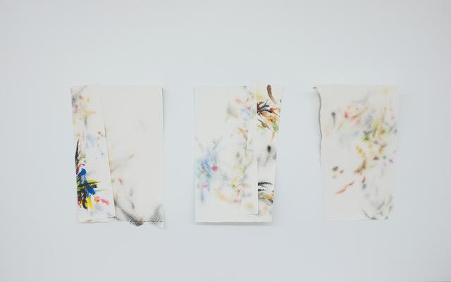 , 'Autorretrato como papéis toalha sujos de tinta I ,' 2017, Espacio Mínimo