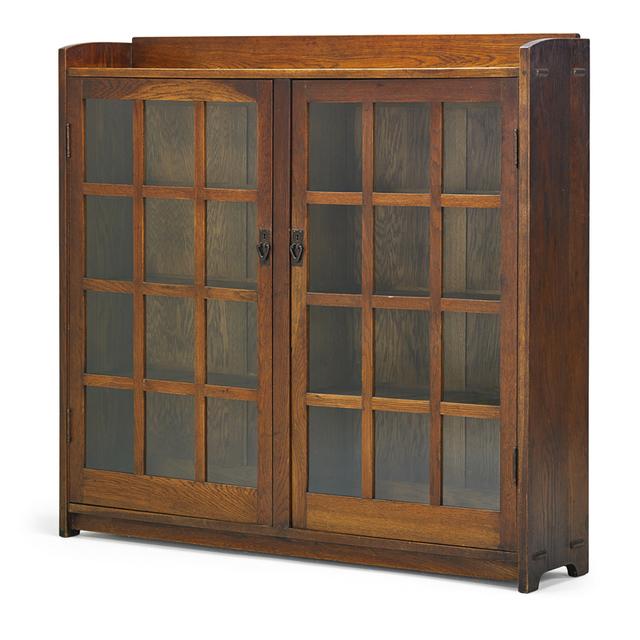 Gustav Stickley, 'Oversized Double-Door Bookcase, Eastwood, NY', ca. 1912, Rago/Wright