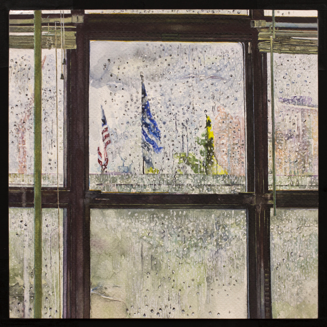 , 'Rain on Window,' 2012-2015, New York Studio School
