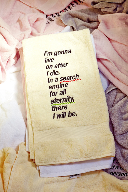 Darren Sylvester, 'I'm gonna live on after I die. In a search engine for all eternity, there I will be.', 2014, Neon Parc