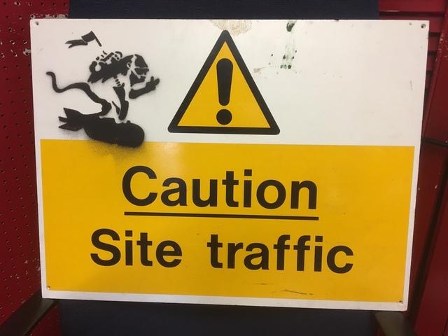 Banksy, 'Caution Bomb Riding Monkey', 2004, Brandler Galleries