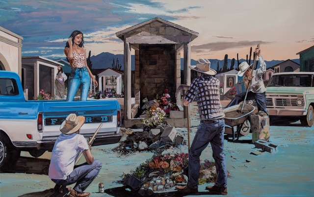 Tracy Stuckey, 'Un Recuerdo del Panteon (A memory of the cemetery)', 2021, Painting, Oil on canvas, Visions West Contemporary