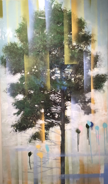 Peter Hoffer, 'Pine', 2016, Painting, Acrylic and epoxy on board, K + Y Gallery