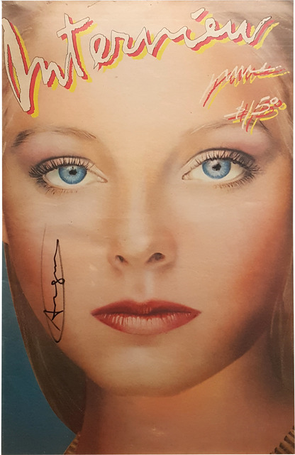 After Andy Warhol, 'Andy Warhol Interview Magazine (Jodie Foster Cover), Vol. X No. 6', Sept. 1980, Print, Offset color lithograph in colors; Full magazine framed., artrepublic