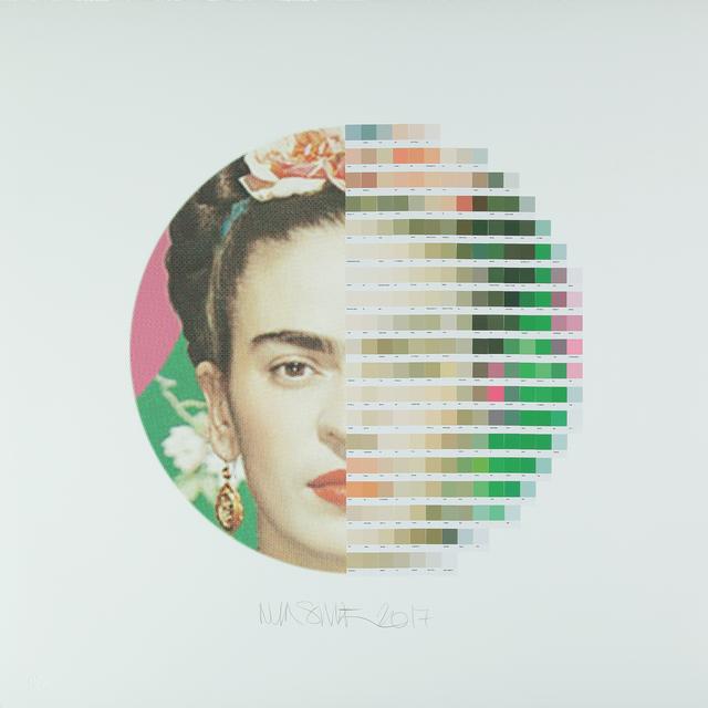 , 'Frida Kahlo, Tondo 2,' 2017, Lawrence Alkin Gallery
