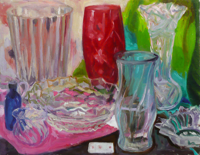 , 'Still Life with Red Glass,' 2018, The Painting Center
