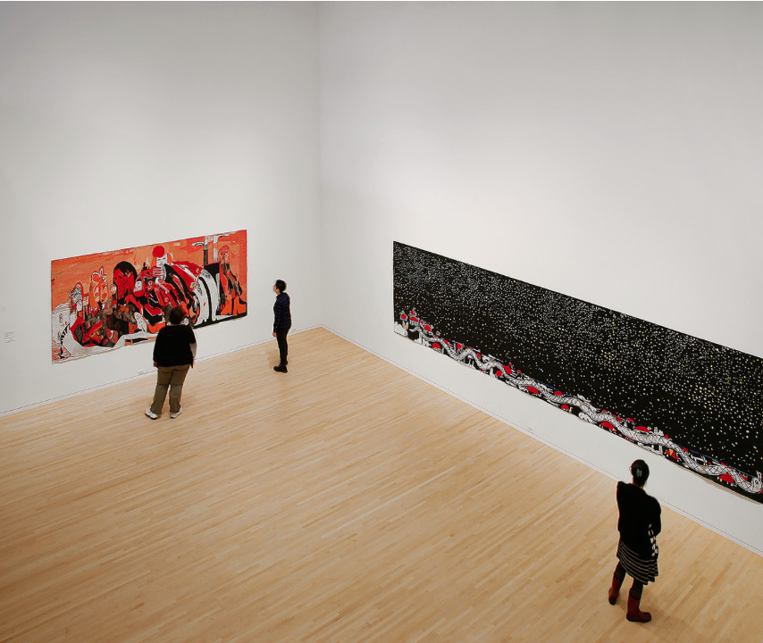 """Installation view of """"Summer Wheat: Full Circle."""" Photo: Mark Woods."""