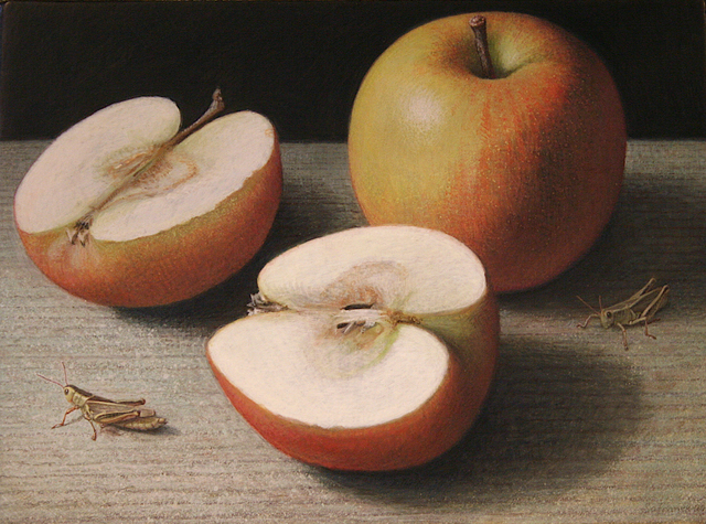 Doug Safranek, 'Gala and Grasshoppers', 2020, Painting, Egg tempera on panel, Garvey | Simon