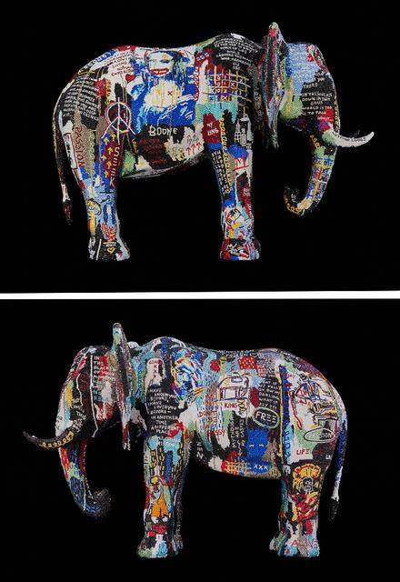 """, 'ELEPHANT Giant """"BROKEN OPEN"""" feat. Basquiat,,' 2019, Galerie de Bellefeuille"""