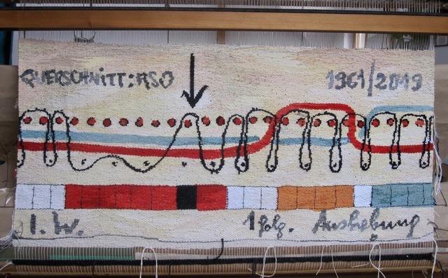Ingrid Wiener, 'JAQUARDBINDUNG', 2019, Textile Arts, Tapestry, wool, silk, cotton, Charim Galerie