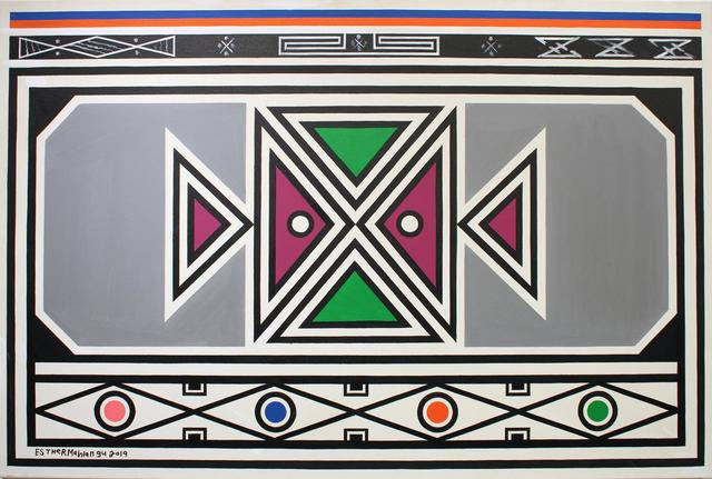 Esther Mahlangu, 'Ndebele Abstract - C001965', 2019, The Melrose Gallery