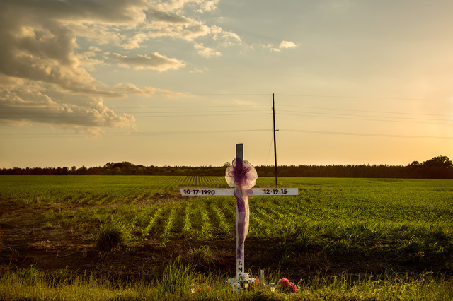 , 'Sunset, Roadside Memorial, Dallas County, AL,' 2017, Spalding Nix Fine Art