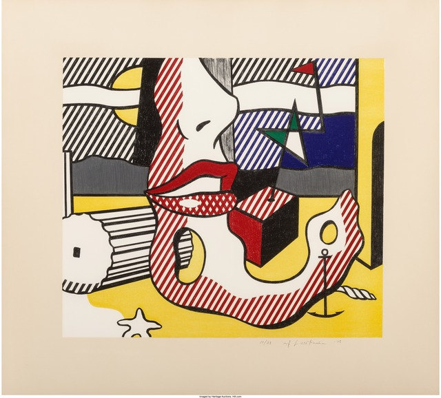 Roy Lichtenstein, 'A Bright Night, from the Surrealist Series', 1978, Print, Lithograph in colors on Arches 88 paper, Heritage Auctions