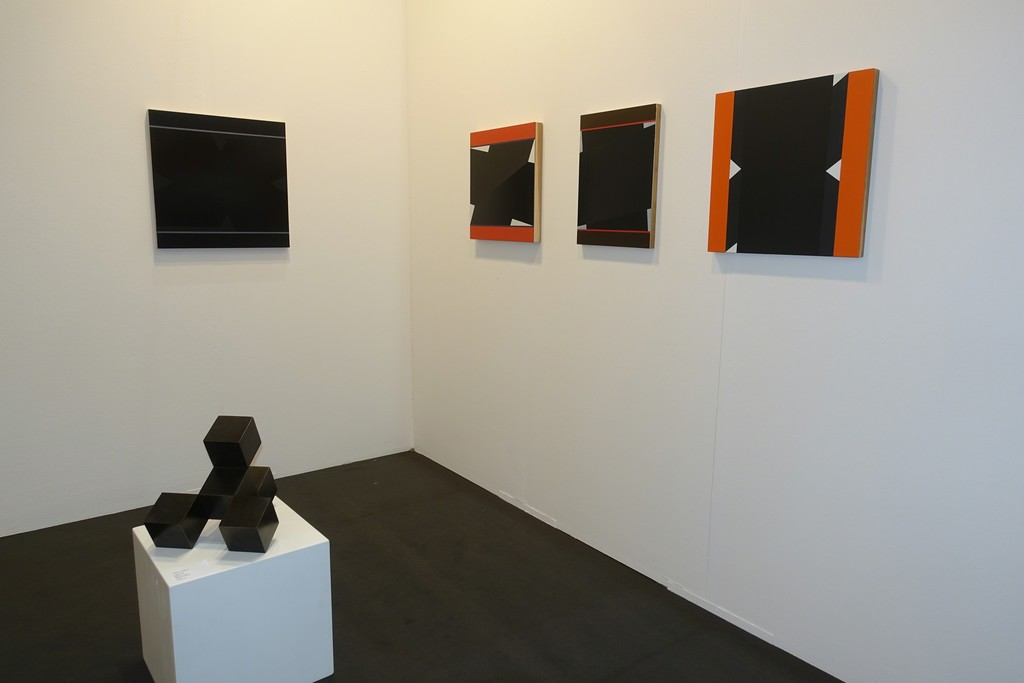 Paintings of Don Voisine with a sculpture of Stephan Siebers