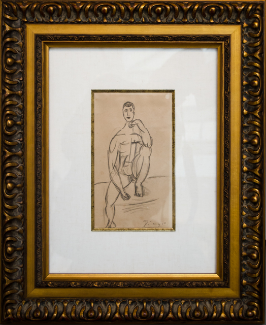 Pablo Picasso, 'Homme Assis', 1918, David Benrimon Fine Art