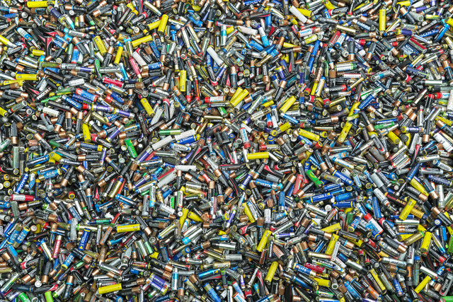 , 'Alkaline batteries collected through a system of selective deposit and collection from households and industry. ,' 2015, Anastasia Photo
