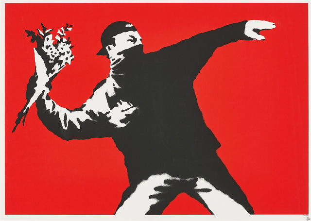 Banksy, 'Love is in the Air', 2003, Phillips