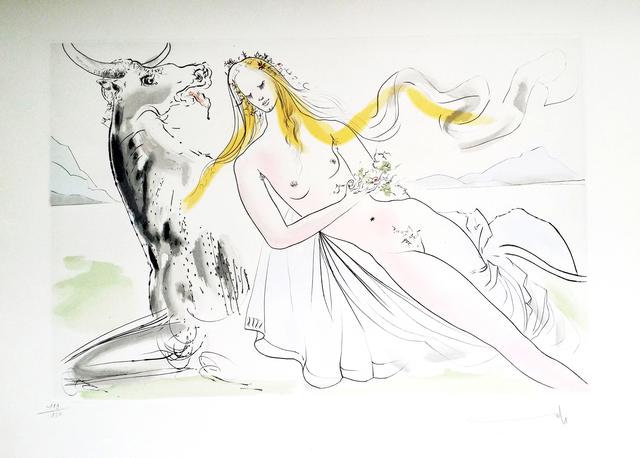 Salvador Dalí, 'New Mythological Suite/ Enlèvement d'Europe', 1971, Print, Drypoint etchings on Rives paper, Art Works Paris Seoul Gallery