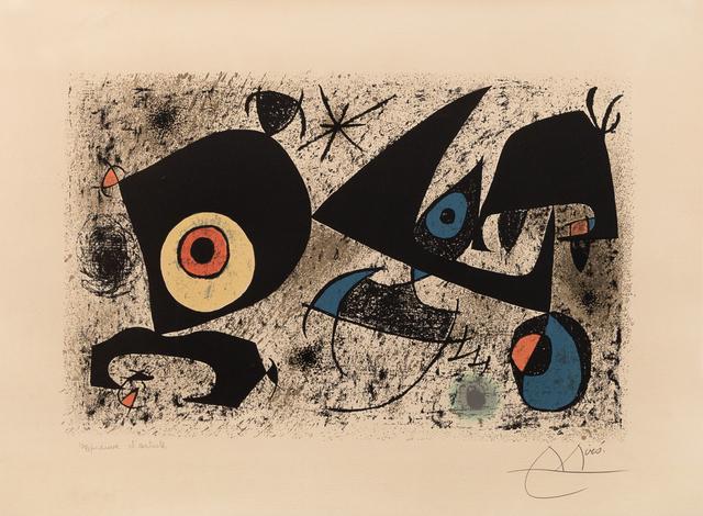 Joan Miró, 'Hommage à Miró', 1972, Hindman
