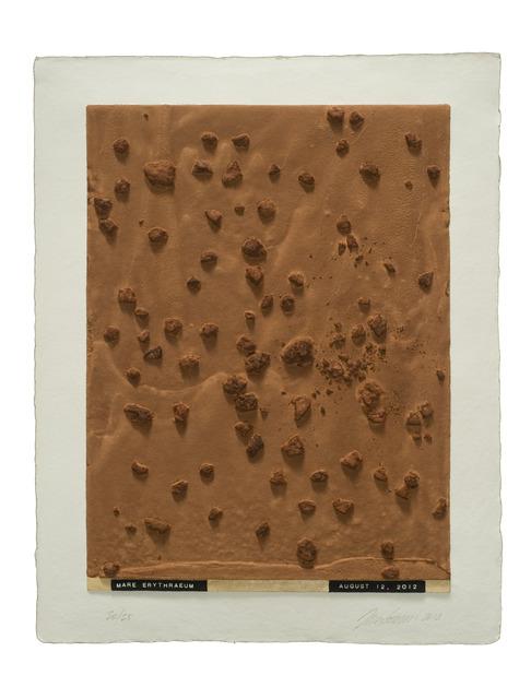 , 'Curiosity's Eye (mare erythraeum),' 2013, Mixografia